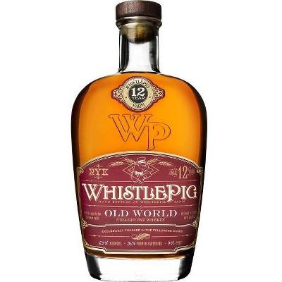 WhistlePig Old World 12yr Straight Rye Whiskey - 750ml Bottle