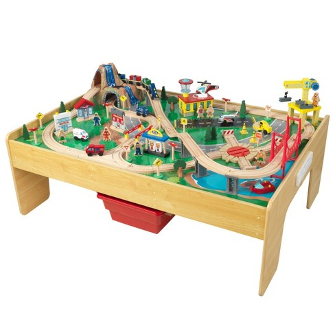 KidKraft Adventure Town Railway Train Set and Table - image 1 of 14
