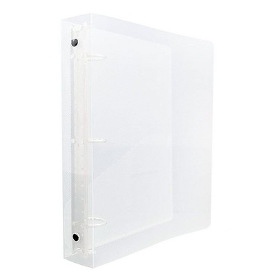 "JAM Paper Mini Standard 1.5"" 3-Ring Binder Clear 370531986"