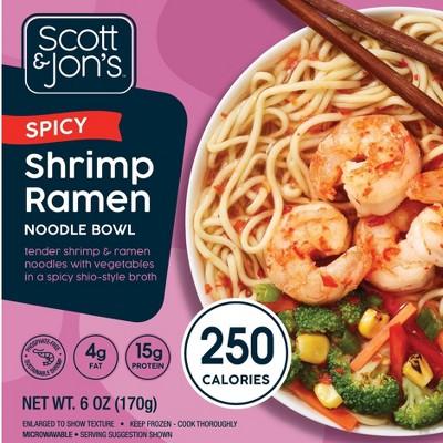 Scott & Jon's Frozen Spicy Shrimp Ramen Noodle Bowl - 6oz