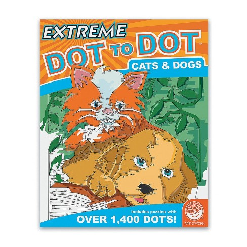 MindWare Extreme Dot To Dot: Cats & Dogs - Brainteasers - image 1 of 3