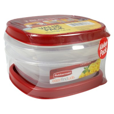 Rubbermaid 4pc 1.25 Cup Food Storage Container with Easy Find Lid