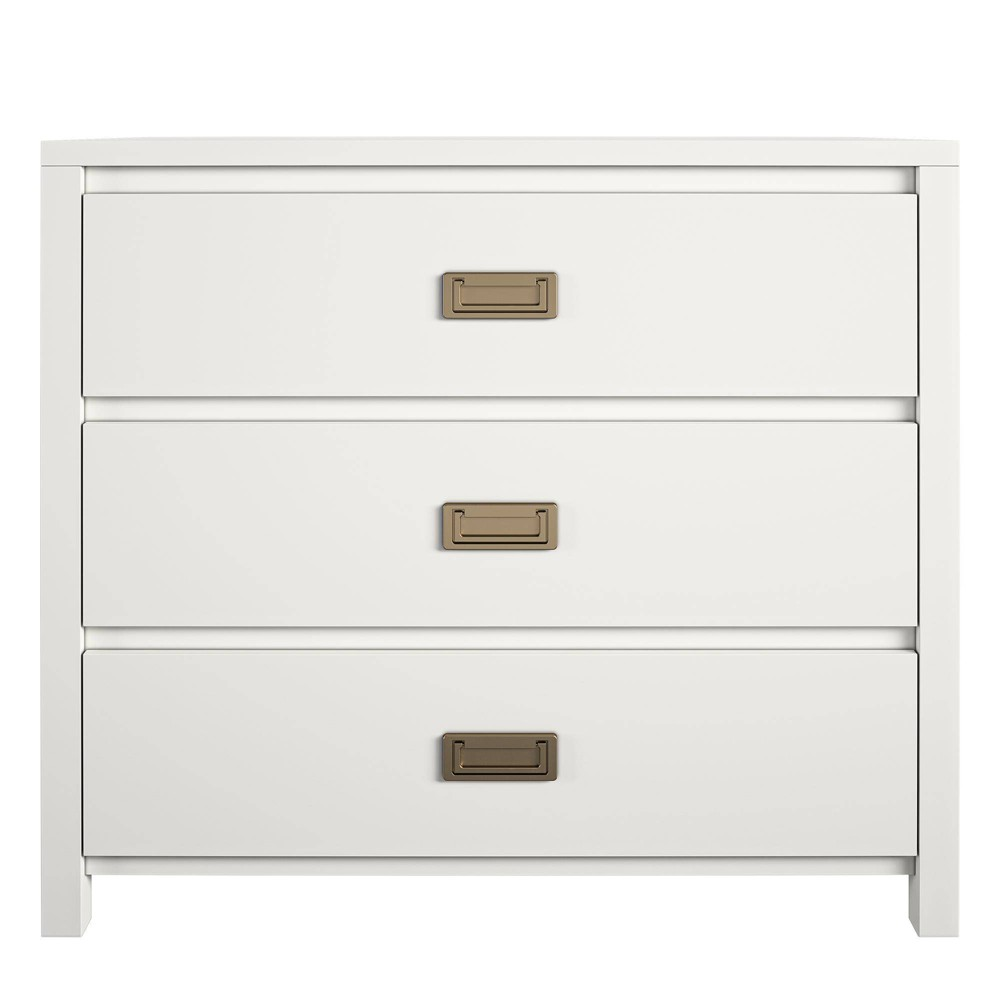 Image of 3 Drawer Monarch Hill Haven Kids Nightstand White - Little Seeds