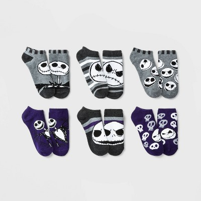 Women's Nightmare Before Christmas 6pk Low Cut Socks - Purple/Gray 4-10