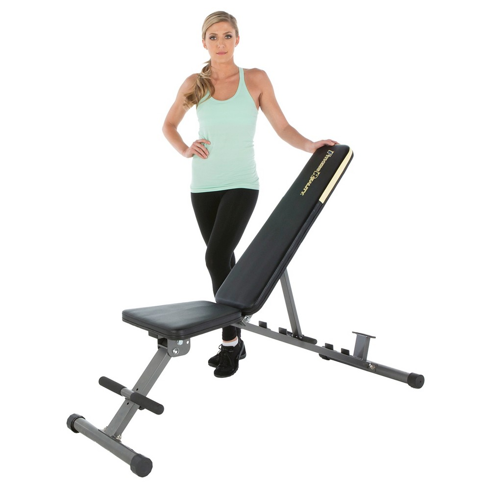 Fitness Reality 1000 'Super Max' 800 lb Capacity 12-Position Weight Bench, Black