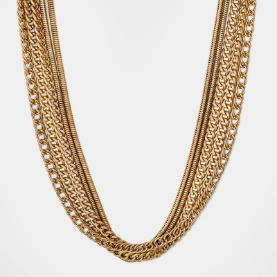 Multi Layer Thick Chained Necklace - Universal Thread™
