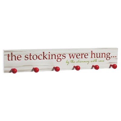 The Stockings Were Hung  Wooden Stocking Holder