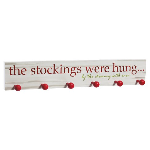 """The Stockings Were Hung"" Wooden Stocking Holder - image 1 of 2"