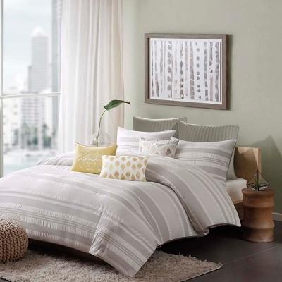 3pc Lakeside Comforter Mini Set Gray