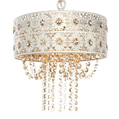 """12.5"""" Jeweled Blossoms Hanging Ceiling Light - River of Goods"""