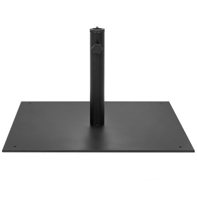 Best Choice Products 38.5lb Steel Square Patio Umbrella Base Stand w/ Tightening Knob and Anchor Holes - Black