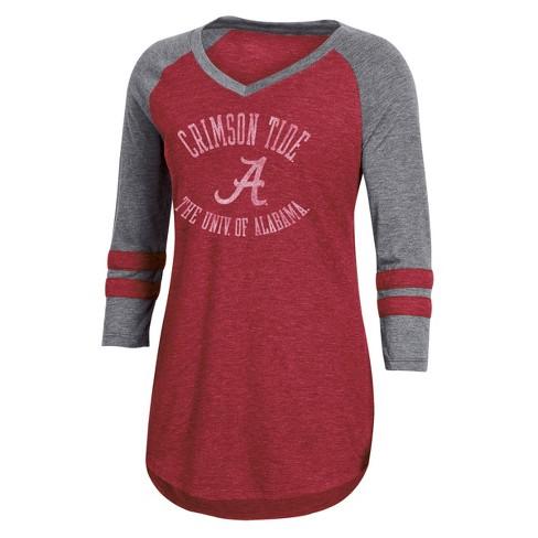 NCAA Women's 3/4 Sleeve V-Neck T-Shirt Alabama Crimson Tide - image 1 of 2