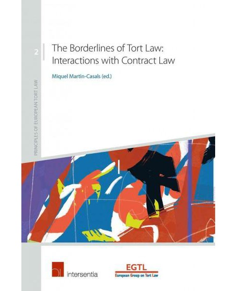 Borderlines of Tort Law : Interactions With Contract Law -  (Paperback) - image 1 of 1