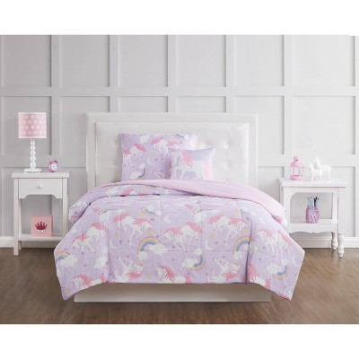 Rainbow Unicorn Comforter Set Purple - My World