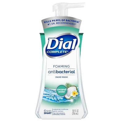 Dial Coconut Water Foaming Antibacterial Hand Wash - 10oz
