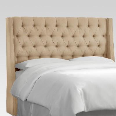 King Gilford Tufted Wingback Headboard Linen - Threshold™