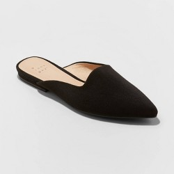Women's Kurin Microsuede Square Throat Mules - A New Day™
