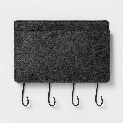 Large Felt Wall Organizer Decorative Hook Gray - Project 62™