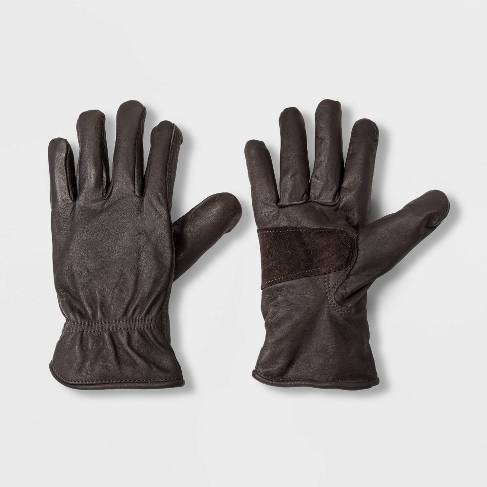 Image of Men's Leather Glove - Goodfellow & Co Brown L/XL, Men's, Size: Large/XL