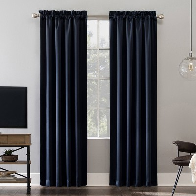 "95""x52"" Oslo Theater Grade Extreme Blackout Rod Pocket Curtain Panel Navy - Sun Zero"
