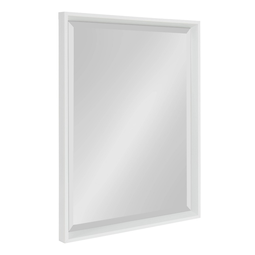 """Image of """"19.5""""""""x25.5"""""""" Calter Framed Wall Mirror White - Kate and Laurel"""""""