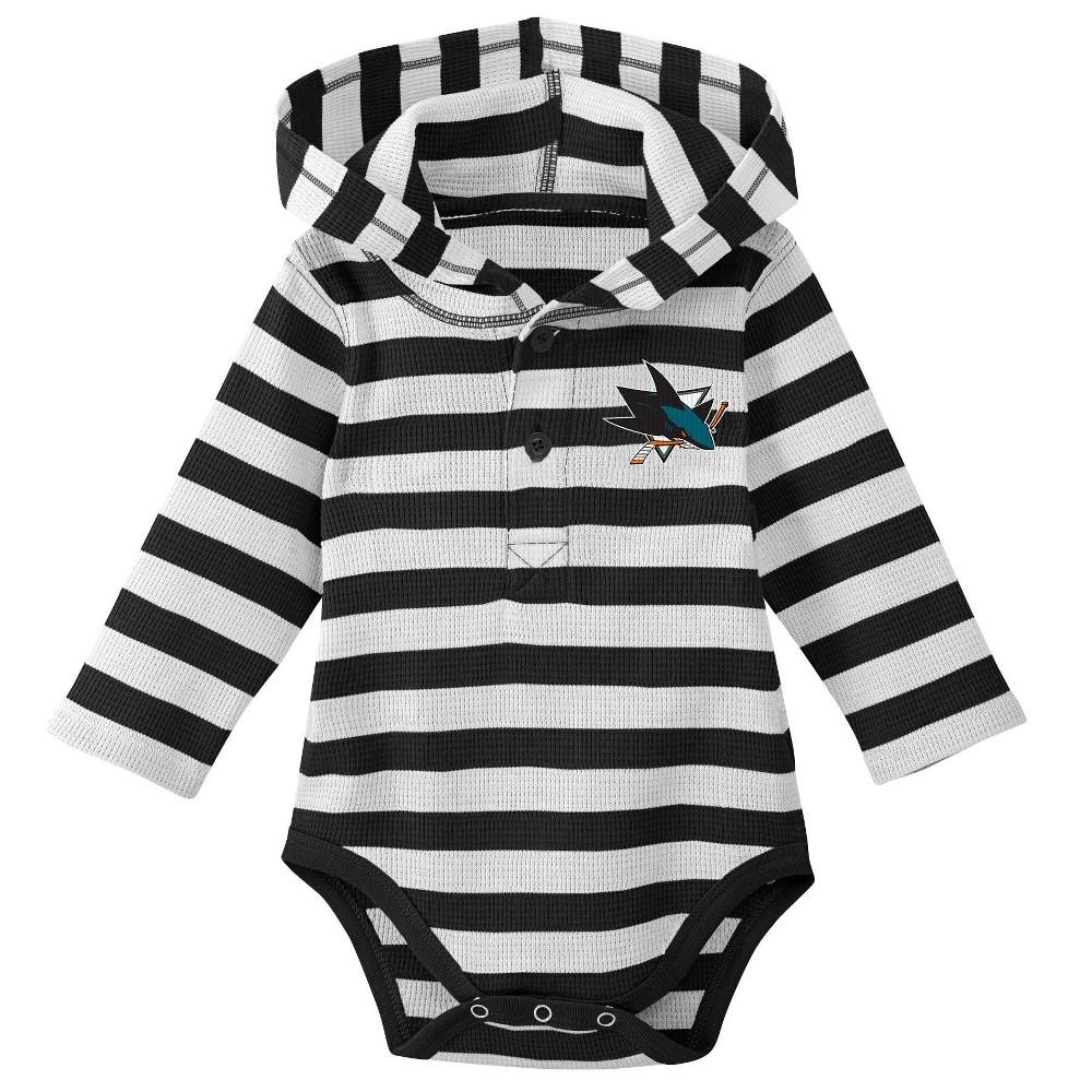 San Jose Sharks Boys' Newborn/Infant Sleeper Bodysuit - 18M, Multicolored