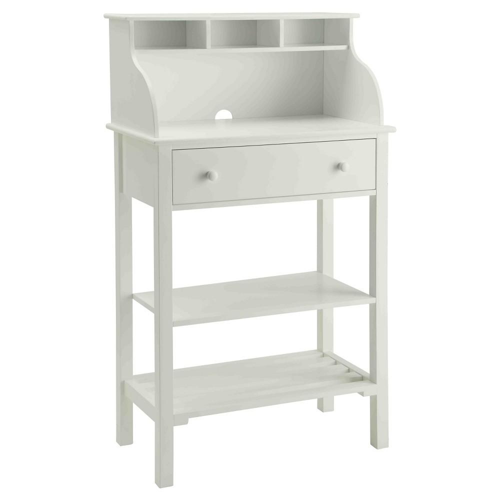 Office/ Kitchen Storage Desk - White - Convenience Concepts