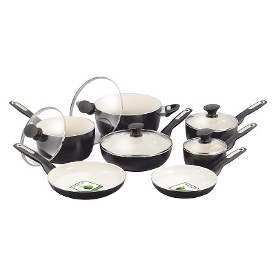 GreenPan Rio 12pc Cookware Set Black