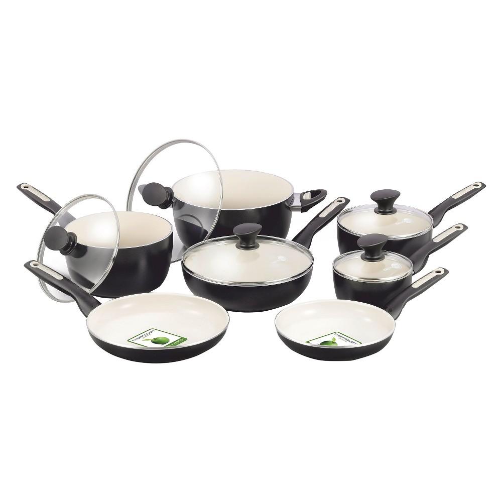 GreenPan Rio 12pc Cookware Set Black