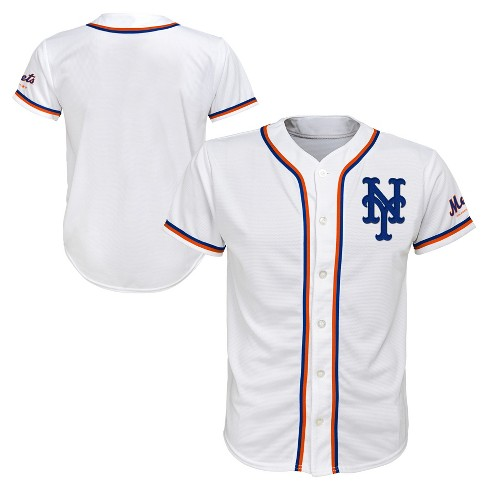 the latest 67706 760e9 New York Mets Boys' White Team Jersey - XS