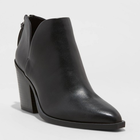 Women's Beatrix Cut Out Heeled Bootie - A New Day™ - image 1 of 4