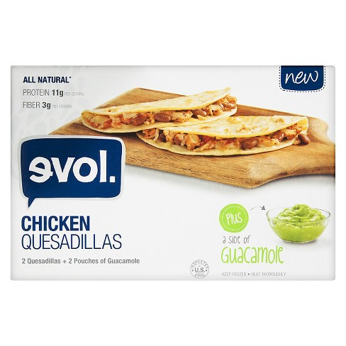 Evol Grilled Frozen Chicken Quesadilla with Guacamole - 9oz - image 1 of 2