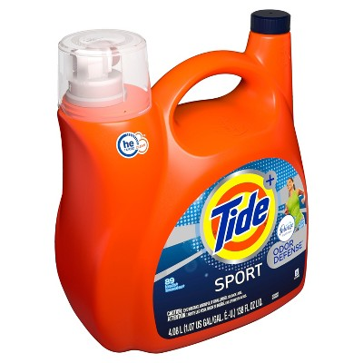 Tide Plus Febreze Sport Active Fresh High Efficiency Liquid Laundry Detergent - 138 oz