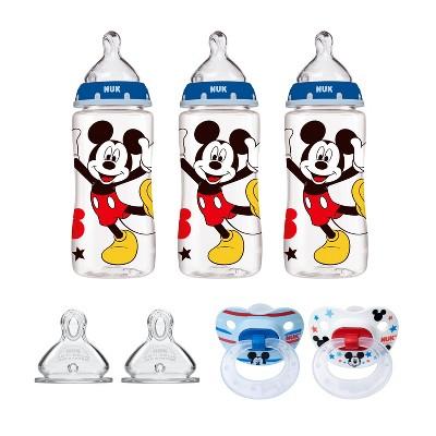 NUK Bottle & Pacifier Newborn Mickey Mouse Set - Blue