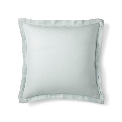 Gray Linen Pillow Sham (Euro)- Fieldcrest®