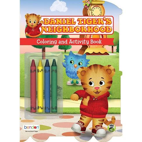 Neighborhood Coloring Book With Crayons