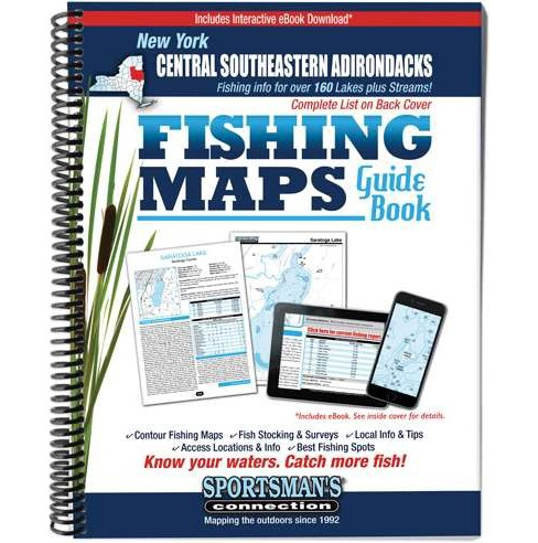 Central Southeastern Adirondacks New York Fishing Map Guide (Paperback) - image 1 of 1