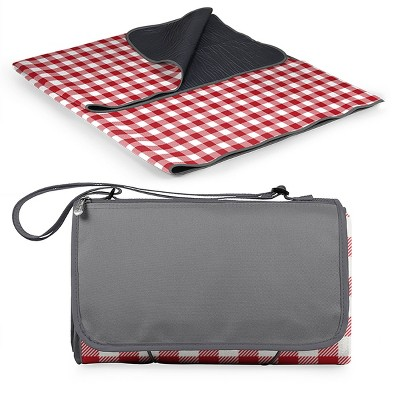 Picnic Time Blanket Tote - Red/Gray