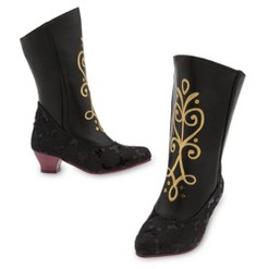 Disney Frozen Anna Kids' Dress-Up Boots - Size 2-3 - Disney store, Black