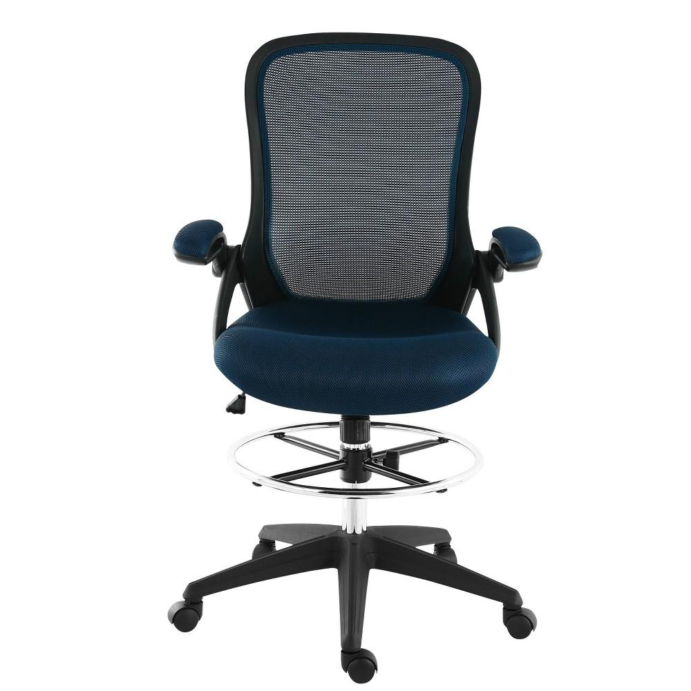 Stephanie Drafting Chair Blue - Poly & Bark Best