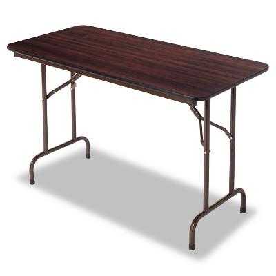 Alera Wood Folding Table Rectangular 48wx24dx29h Mahogany FT724824MY