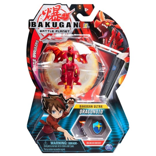 """Bakugan Ultra Dragonoid 3"""" Collectible Action Figure and Trading Card"" image number null"