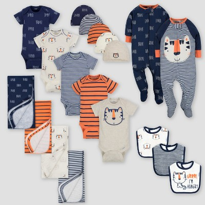 Gerber Baby Boys' 19pc Tiger Layette Gift Set - Blue 0-3M