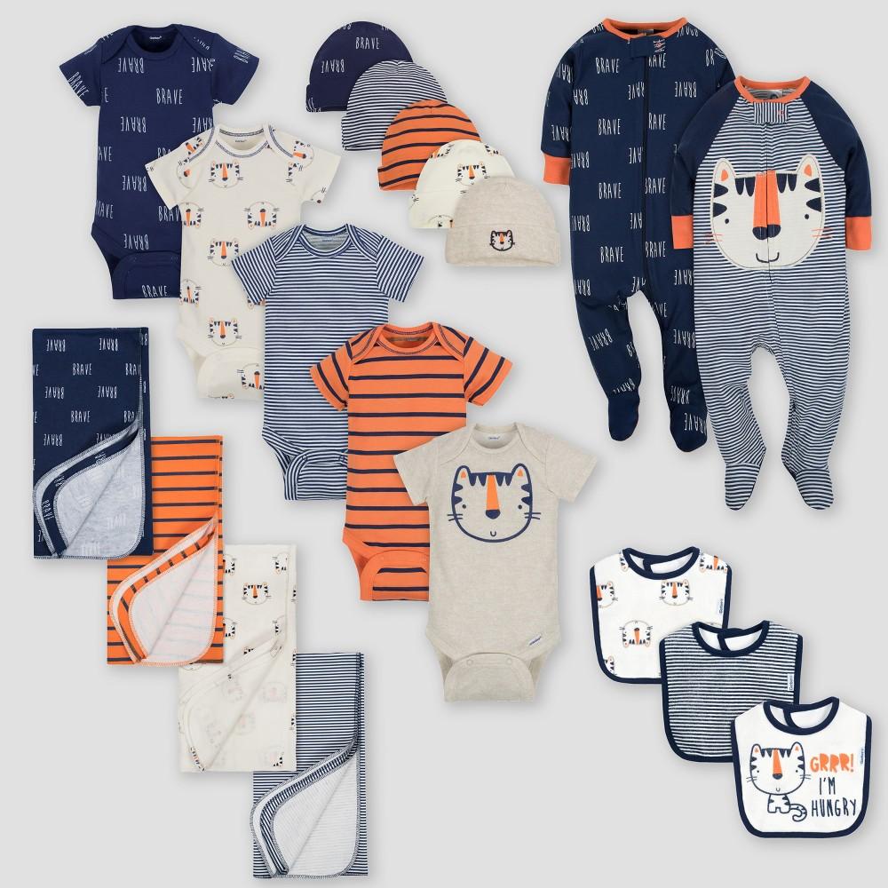 Gerber Baby Boys' 19pc Tiger Layette Gift Set - Blue 0-3M