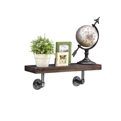 "23.5"" x 7.3"" Industrial Pipe Wall Shelf - Danya B."
