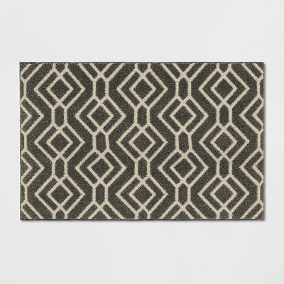 "30"" X 46"" Carthage Geo Easy Care Rug Gray - Threshold™"