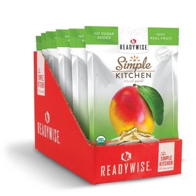 ReadyWise Simple Kitchen Organic Freeze Dried Mango - 6.3oz/6ct