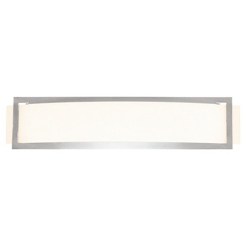 Argon Fluorescent Wall Light with Opal Glass Shade - Brushed Steel - image 1 of 2