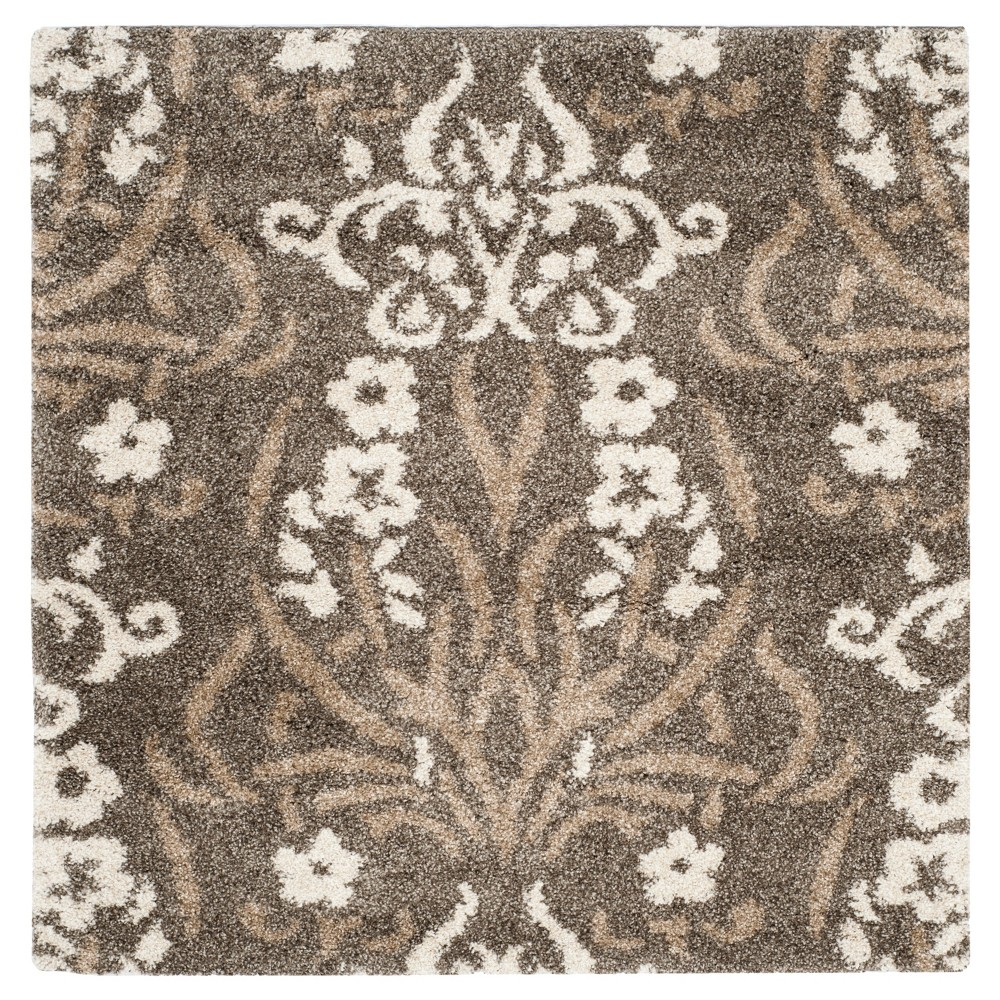 Buy Smoke Beige Abstract woven Square Area Rug - (5X5) - Safavieh