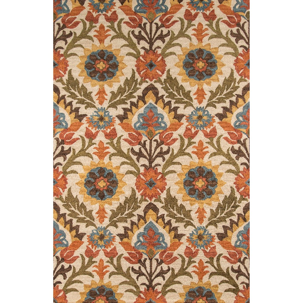 5'X8' Floral Area Rug Red - Momeni